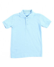 Short-Sleeve - S/S Solid Pique Polo (4-7)