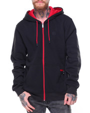 Akademiks - Corey Poly Fleece Hoodie Cell Pocket Pouch