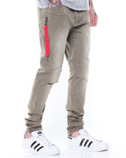 Jeans & Pants - Ripped Knee Twill Pants