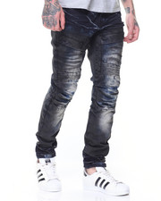 Jeans & Pants - Sandblasted Cargo Biker Jean