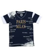 Short-Sleeve - S/S Paris Milan V-neck Graphic Tee (8-20)