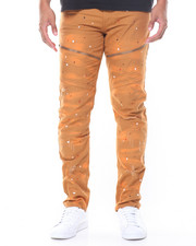 Men - Paint Splatter Moto Pant
