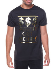 Shirts - S/S Raised Gold Foil Tee Cash Pattern