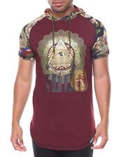 Shirts - S/S Money Print Camo Hoody
