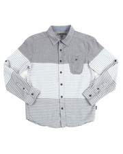 Button-downs - Striped Chambray Roll Up Woven (8-20)