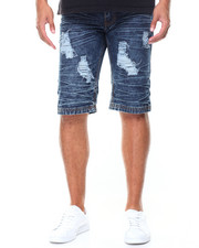Shorts - Destructed Denim Shorts