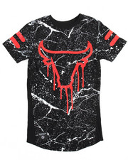 T-Shirts - Allover Marble Print Bull Foil Tee (8-20)