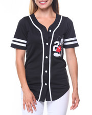 Graphix Gallery - Mickey 28 Front/Back Patch Button Down Baseball Shirt