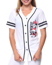 Graphix Gallery - Minnie 28 Front/Back Patch Button Down Baseball Shirt