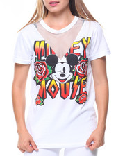 Graphix Gallery - Mickey Mouse Mesh V-Inset Tee