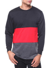 Buyers Picks - French Terry Color Block Zipper Pullover