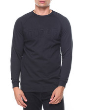 Buyers Picks - Raglan Fleece Pullover Embossed Crew