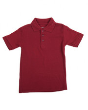 DRJ School Uniforms - S/S Boys Polo Pique Shirt (4-7)