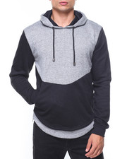 Buyers Picks - Rounded Bottom Zipper Marled Hoodie