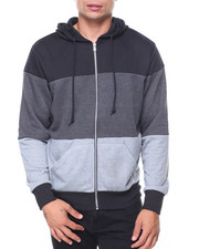 Buyers Picks - French Terry Full Zip Color Block Hoodie
