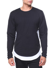 Buyers Picks - Two Tone French Terry Zipper Pullover