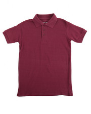 Sizes 8-20 - Big Kids - S/S Boys Polo Pique Shirt (8-14)