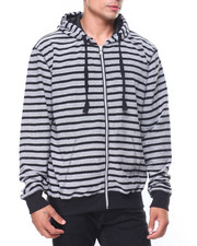 Hoodies - Reversed French Terry Stripe Pullover