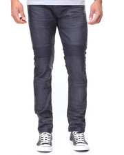 Men - Front Flap Pocket Coated Jeans