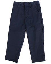 Pants - Boys Flat Front Navy Pants (4-7)