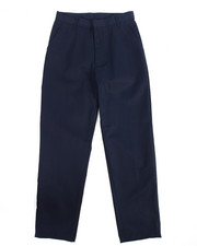Pants - Boys Flat Front Navy Pants (16-20)