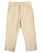 Pants - Boys Flat Front Khaki Pants (4-7)