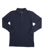 Sizes 8-20 - Big Kids - L/S Boys Polo Pique Shirt (8-14)