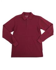Tops - L/S Boys Polo Pique Shirt (16-20)
