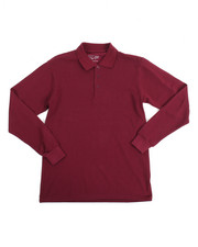 Sizes 8-20 - Big Kids - L/S Boys Polo Pique Shirt (16-20)