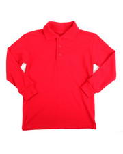 Long-Sleeve - L/S Boys Polo Pique Shirt (4-7)