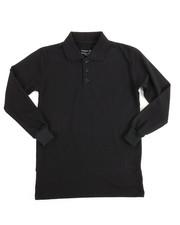 Tops - L/S Boys Polo Pique Shirt (8-14)
