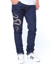 Men - Snake Embroidery Jeans