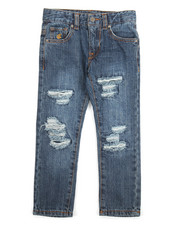 Bottoms - Destroyed Denim Jean (4-7)