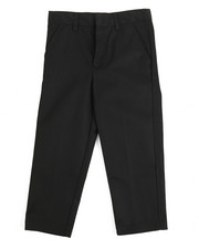Pants - Boys Flat Front Black Pants (4-7)
