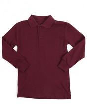 Tops - L/S Boys Polo Pique Shirt (4-7)