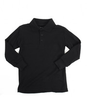 DRJ School Uniforms - L/S Boys Polo Pique Shirt (4-7)