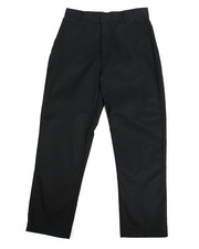 Pants - Boys Flat Front Black Pants (16-20)