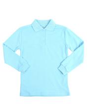Tops - L/S Girls Knit Polo Shirt (7-20)