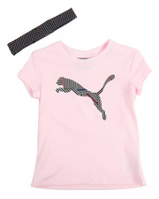 Sets - S/S Tee And Headband (2T-4T)