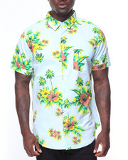 Button-downs - S/S Flowers Printed Woven