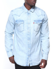 Button-downs - L/S Western Denim Shirt