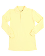 Tops - L/S Boys Polo Pique Shirts (8-14)