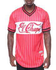 Men - Champo Pinstripe S/S Baseball Jersey