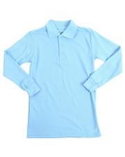 Boys - L/S Boys Polo Pique Shirts (8-14)