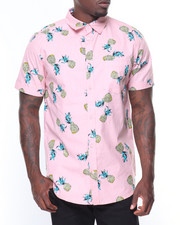 Button-downs - S/S Pineapple Printed Woven