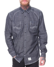 Button-downs - L/S Cotton Woven Solid Shirts