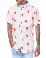 Button-downs - S/S French Fries/Ketchup Printed Woven