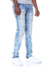 Buyers Picks - Light Blue Wash Paint Splatter Ripped Jeans