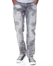 Buyers Picks - Grey Wash Paint Splattered Ripped Jeans