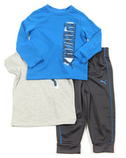 Sets - 3 Piece Tees & Pant Long Set (2T-4T)